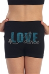 KIDS LOVE DANCE STAR BOY SHORTS - You Go Girl Dancewear