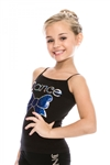 Girls Sequin Cami Dance Top with Sequin Bow - You Go Girl Dancewear