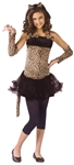 Girls' Wild Cat Costume with Leopard Print  -  You Go Girl Dancewear