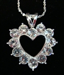 Rhinestone Heart Necklace - You Go Girl Dancewear