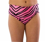 Pizzazz Girls' Cheer Animal Print Brief - You Go Girl Dancewear