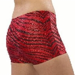 Pizzazz Adult Zebra Glitter Shorts - 2600ZG - You Go Girl Dancewear