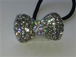 Rhinestone Ponytail Holder - Bow - You Go Girl Dancewear