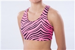 Pizzazz Child Animal Print Sports Bra with Racer Back Design - Style 1023AP - You Go Girl Dancewear