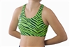 Pizzazz Adult Glitter Zebra Sports Bra with Racer Back - Style 3600ZG - You Go Girl Dancewear