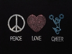 Heat Transfer Peace, Love, Cheer - You Go Girl Dancewear
