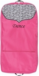 Sassi Designs ZEB-04 GARMENT BAG-HOT PINK with Zebra trim