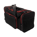 "Sassi Designs SD624-Red 24"" Square Duffel - Black with Red Trim"