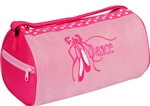 Ballet Slipper Embroidered Duffle Dance Bag - You Go Girl Dancewear