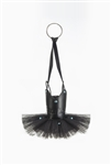 Wear Moi Black Leather Top and Tulle Tutu Keychain