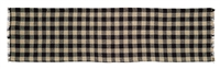 Burlap Black Check Table Runner 48""