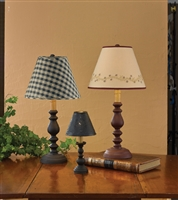 Black Candlestick Lamp 8-1/2""