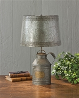 Antique Milk Can Lamp w/Shade