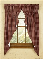 "Sturbridge Wine Lined Gathered Swags-Set of 2 72""x63"""