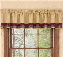 My Country Home Lined Border Valance