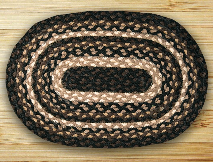 Braided Jute Oval Placemat Earth Rugs Primitive