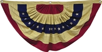 Tea Stained American Flag Bunting Large