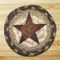 Gold Star Braided Coaster - Set of 4