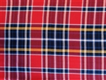 "Red, Navy, Orange and White Plaid Cotton, 58"" wide"