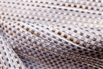"Novelty Woven with Blue, Brown & White, 54"" wide"