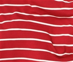 "Mariner Stripe (Red) Knit, 58/59"" wide"