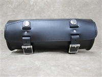 Long Round Leather Tool Bag