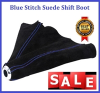 Blue Stitch Suede Shift Boot