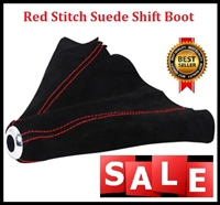 Red Stitch Suede Shift Boot