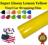 Car Wrapping Film - Super Glossy Lemon Yellow (60in X 65ft)