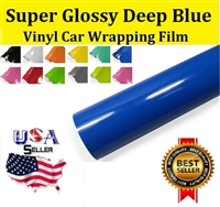 Car Wrapping Film - Super Glossy Deep Blue (60in X 65ft) Out of Stock