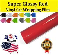 Car Wrapping Film - Super Glossy Red (60in X 65ft)