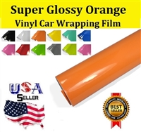 Car Wrapping Film - Super Glossy Orange (60in X 65ft)
