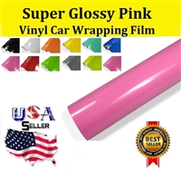 Car Wrapping Film - Super Glossy Pink (60in X 65ft)