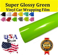 Car Wrapping Film - Super Glossy Green (60in X 65ft)