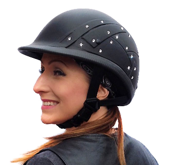 Motorcycle Helmets Dot >> The most badass ladies DOT motorcycle helmet with 40 Swarovski crystals