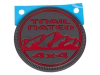 Rubicon Red Trail Rated Emblem - 68309634AB