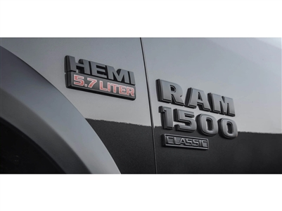 Black Ram 1500 Classic Door Emblem - Left Side - 68448647AB