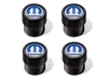 Wheel Valve Stem Caps - Black with Blue Mopar Logo - 82215721