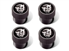 Challenger Valve Stem Caps Black With Silver Demon Logo - 82215747