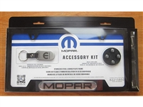 License Plate Frame Gift Set Mopar Logo Black - 82215850