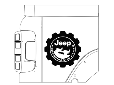 Decal Bodyside Jeep Performance Parts JPP Logo - 82216407AA