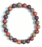 Carnelian & Garnet with Fish Wrist Mala - Prayer Bracelet - 8mm (2 Pack)