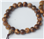 Tiger Stripe Aloeswood Wrist Mala - Prayer Beads - 8mm (6 Pack) - NEW