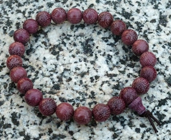 Purpleheart Wood Wrist Mala - Prayer Beads - 8mm (8 Pack)
