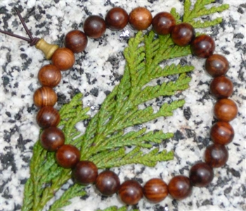 Black Pear Wood Wrist Mala - Prayer Bead Bracelet - 8mm (6 Pack)