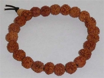 Rudraksha Seed Wrist Mala Prayer Bracelet - 8.5 to 9mm (10 Pack) - NEW!