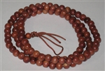 Korean Zen Plain Cedar 108 Bead Mala - 8mm (3 Pack)
