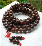 Bodhi Root - Buri Palm Nut 108 Bead Buddhist Mala Prayer Beads - Natural (2 Pack)
