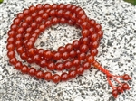 Carnelian 108 Bead Buddhist Mala - 8mm (1 Pack)