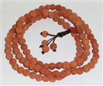 Rudraksha Seed 108 Bead Mala Prayer Beads - 7 to 7.5mm (2 Pack)